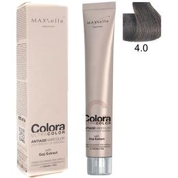 Vopsea Profesionala cu Extract de Goji - Maxxelle Colora Ultracolor Antiage Haircolor, nuanta 4.0 Chestnut