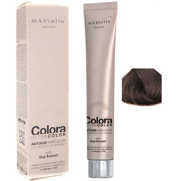 Vopsea Profesionala cu Extract de Goji - Maxxelle Colora Ultracolor Antiage Haircolor, nuanta 5.3 Light Chestnut Golden esteto.ro