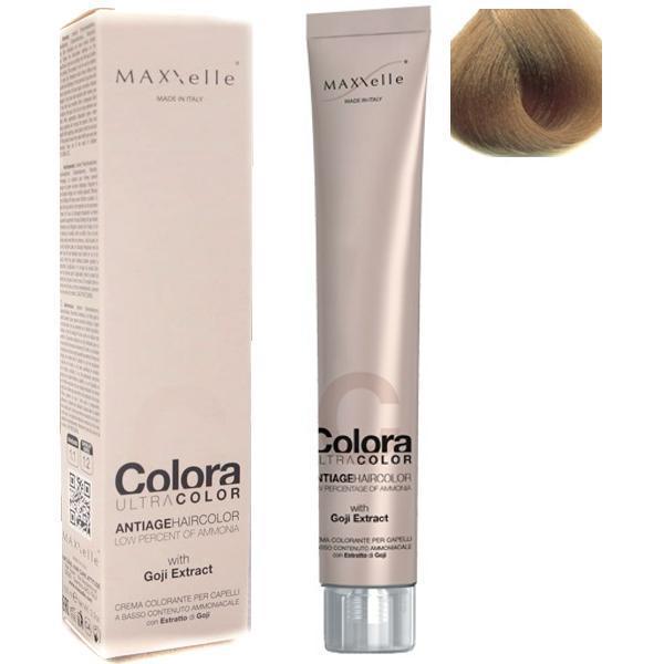 Vopsea Profesionala cu Extract de Goji - Maxxelle Colora Ultracolor Antiage Haircolor, nuanta 8.3 Light Blonde Golden poza