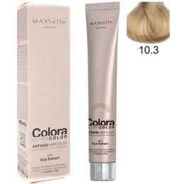 Vopsea Profesionala cu Extract de Goji – Maxxelle Colora Ultracolor Antiage Haircolor, nuanta 10.3 Blonde Platinum Golden de la esteto.ro