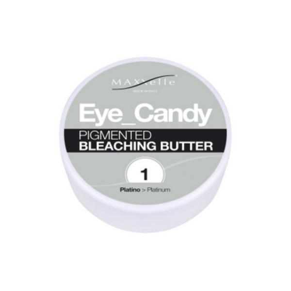 Unt Decolorant Pigmentat - Maxxelle Eye Candy Pigmented Bleaching Butter, nuanta 1 Platinum, 100g imagine produs