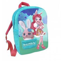 Ghiozdan de plus Enchantimals Bree Bunny cu breloc de plus