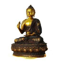 Statueta de bronz Buddha pe lotus - Juliana
