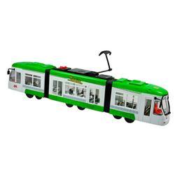 Tramvai verde cu sunet si lumina 48 cm - Kiwi