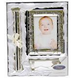 Set argintat cadou de botez in cutie argintie - Juliana