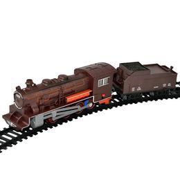 Trenulet electric de marfa cu lumini, sunete si 2 vagoane - Bsq