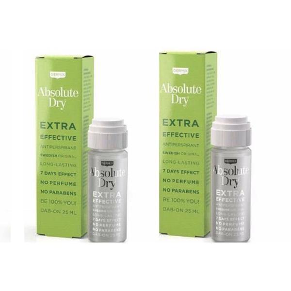 Set cadou 2 Antiperspirante Absolute Dry, Dermix, 7 days effect, 25 ml + 25 ml imagine produs