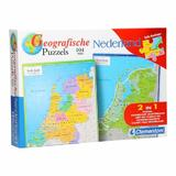 Puzzle geografic Netherland 104 piese 2 in 1 - Clementoni