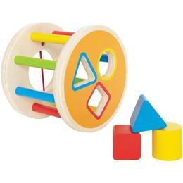 Sortator din lemn cu forme geometrice colorate - Hape