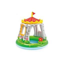 Piscina gonflabila pentru copii cu acoperis pentru protectie solara - Castel 122 x 122 cm - Nebunici