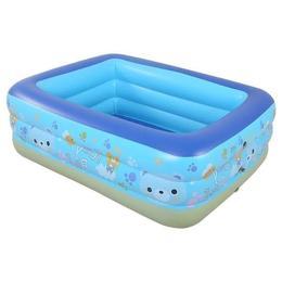 Piscina gonflabila pentru copii cu 3 inele - 150x105x55 cm - Nebunici