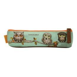 Penar tip pouch Grumpy Owl, 18x5x3 cm - Santoro