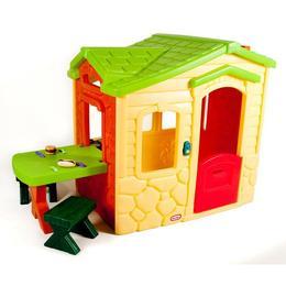 Casuta picnic cu terasa - crem - Little Tikes