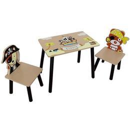 Set masuta si 2 scaunele Pirate Brown