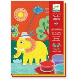 Nisip colorat animale pentru copii - Djeco