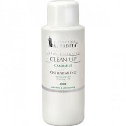 Cosmetica Afrodita - Lapte demachiant LIGHT CAMOMILE pentru ten uscat si ten sensibil 500 ml