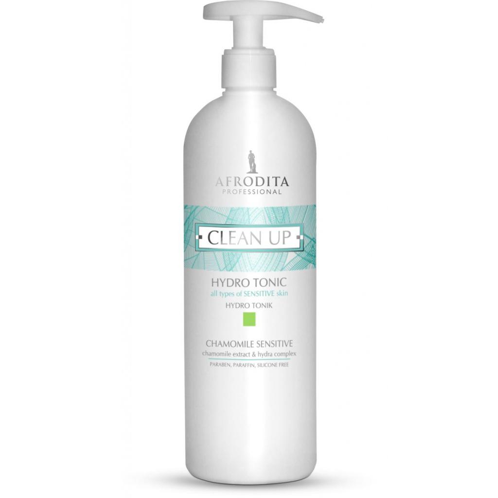 Lotiune Tonica pentru Ten Sensibil - Cosmetica Afrodita Clean Up Hydro Tonic Chamomile Sensitive, 500ml