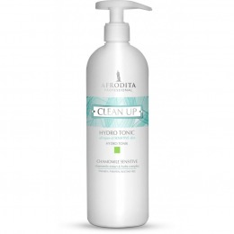 Lotiune Tonica pentru Ten Sensibil - Cosmetica Afrodita Clean Up Hydro Tonic Chamomile Sensitive, 500ml