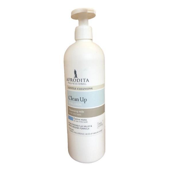Cosmetica Afrodita - Lapte demachiant cu acid hialuronic pentru toate tipurile de ten 500 ml