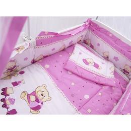 Lenjerie MyKids Teddy Toys Roz M2 7 Piese 140x70 cm
