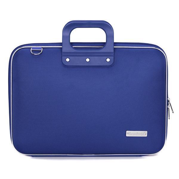 Geanta lux business laptop 15.6 in Clasic nylon Bombata-Albastru cobalt