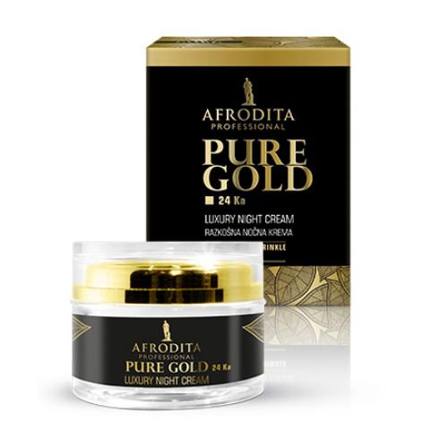 Cosmetica Afrodita - Crema de noapte LUXURY cu aur pur 50 ml