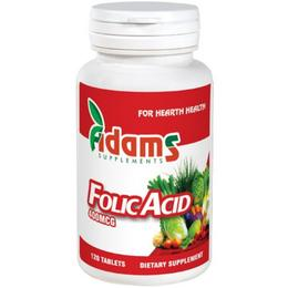 Acid Folic 400mcg Adams Supplements, 120 tablete