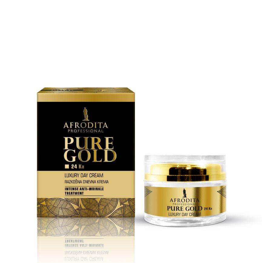 Cosmetica Afrodita - Crema de zi LUXURY cu aur pur 50 ml imagine produs