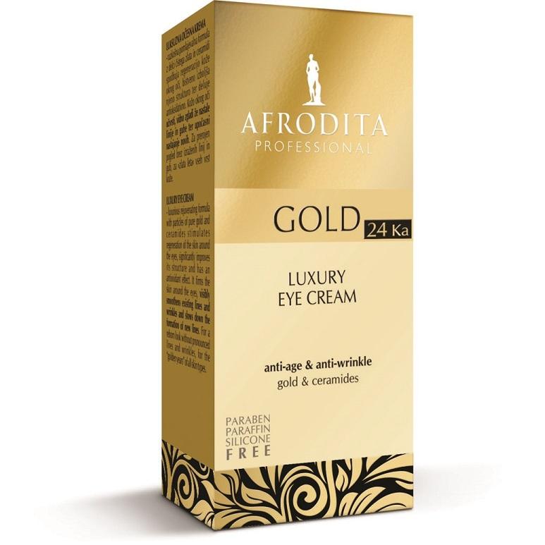 Cosmetica Afrodita - Crema contur ochi LUXURY cu aur pur 15 ml poza