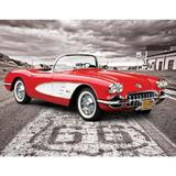 Puzzle 1000 piese 1959 Corvette Driving Down Route 66
