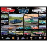 Puzzle 1000 piese - American Cars of the 1950s