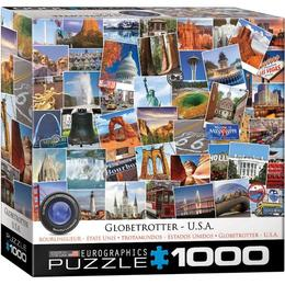 Puzzle 1000 piese Globetrotter USA
