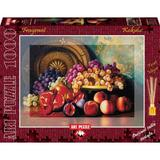 Puzzle 1000 piese - Parfumat - Figs, pomegranates and brass plate - GE