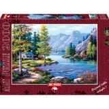 Puzzle 2000 piese - Lakeside Lodge-SUNG KIM