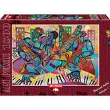 Puzzle 1500 piese - Jazz Modern-LARRY PONCHO BROWN