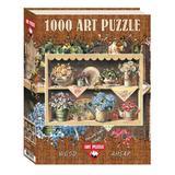 Puzzle lemn Cupboard Garden, 1000 piese