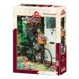 Puzzle Bicycle & Flowers, 500 piese
