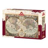 Puzzle World Map-Alberto Rossini, 1500 piese