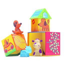 Cuburi de construit cu animale cubanimo - Djeco