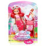 Set Mattel Papusa sirena cu baloane de sapun Barbie Dreamtopia rosu