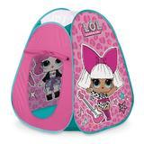 Cort de joaca pentru copii, Lol Surprise Pop Up Mondo, culoarea roz, cu geanta rotunda, 85x85x95cm