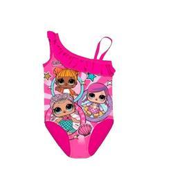 Costum de baie intreg LOL Surprize, cu design papusa LOL, culoarea roz, 98 cm