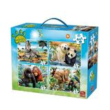 Puzzle 4 in 1 Animale, 72 piese