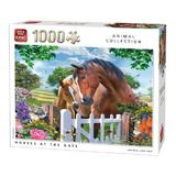Puzzle 1000 piese, Horses at the Gate