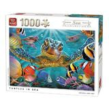 Puzzle 1000 piese, Turtles in Sea