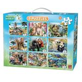 Puzzle 9 in 1 Animale, 277 piese