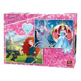 Puzzle 2 in 1, Princess, 50 piese