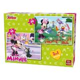Puzzle 2 in 1 24-50 piese Minnie Bowie