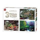 Puzzle 3x1000 piese Garden Collection