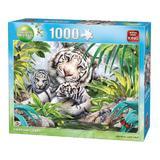 Puzzle 1000 piese, Tigru Siberian